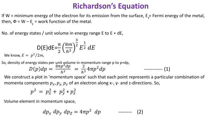 Richardson's Equation