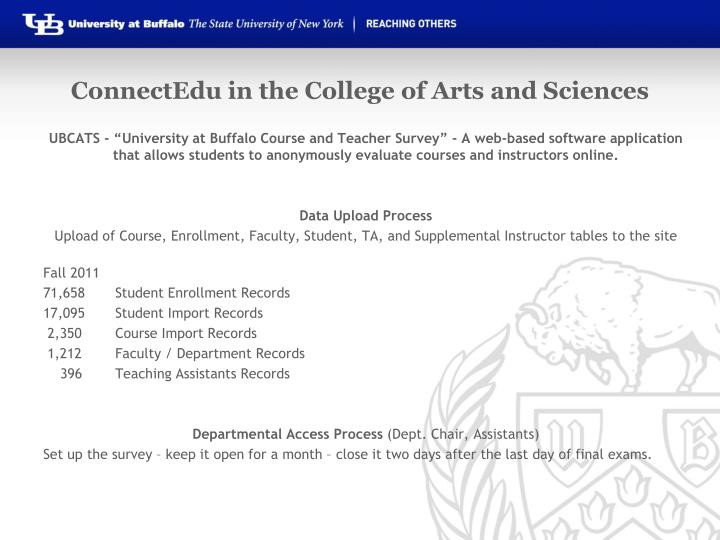 ConnectEdu in the College of Arts and Sciences