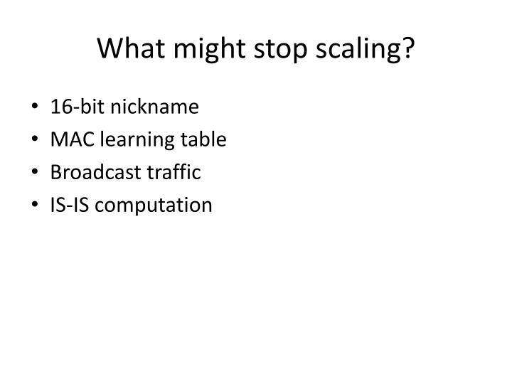 What might stop scaling