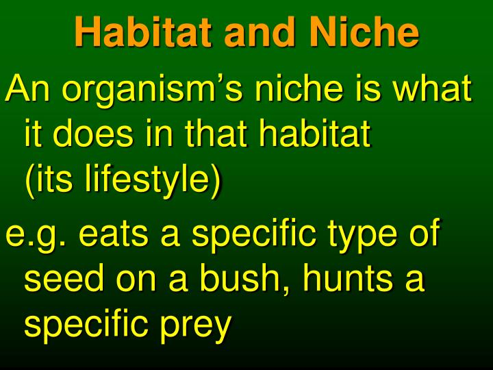 Habitat and Niche