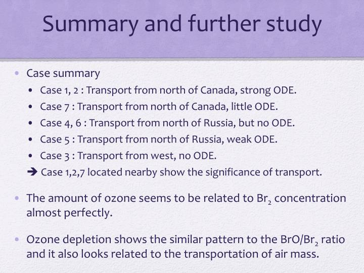 Summary and further study