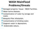 wash main flood problems threats