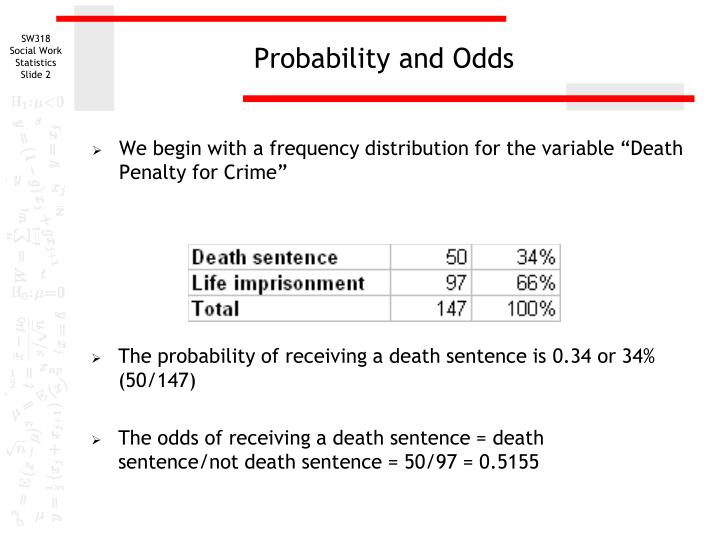 Probability and odds