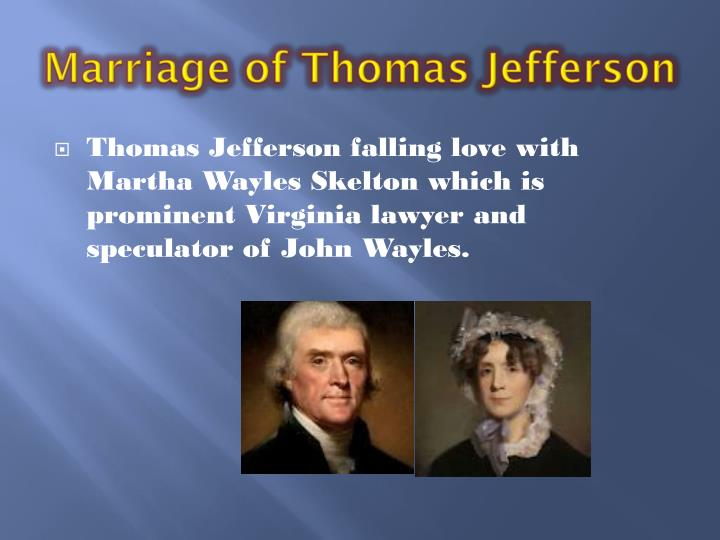 Marriage of Thomas Jefferson