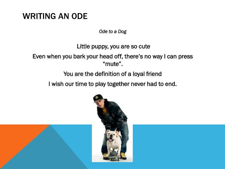 Writing an Ode