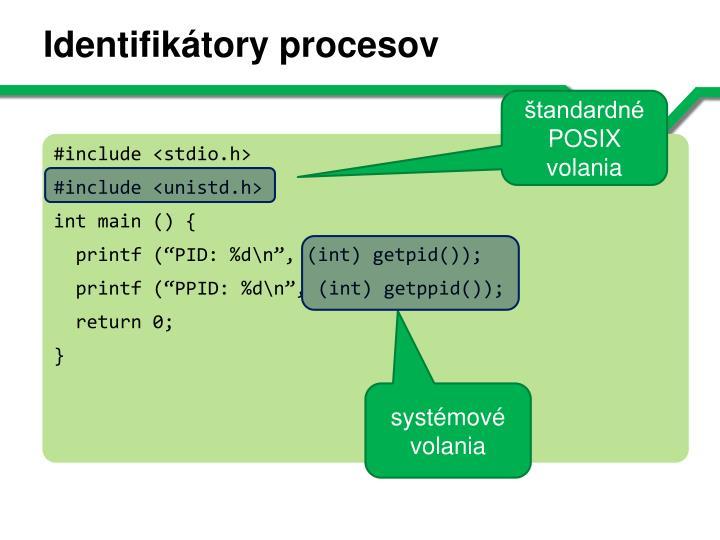 Identifikátory procesov