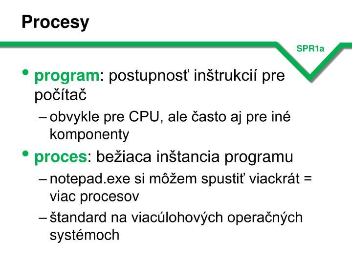 Procesy