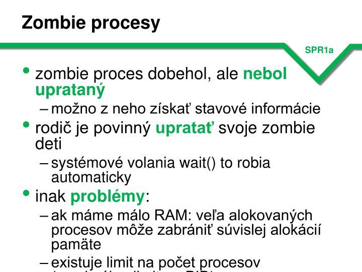 Zombie procesy