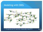 modeling with odes