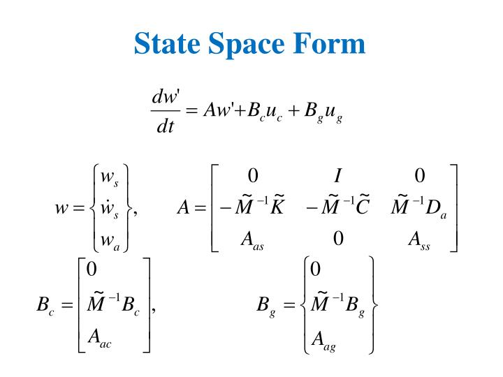 State Space Form