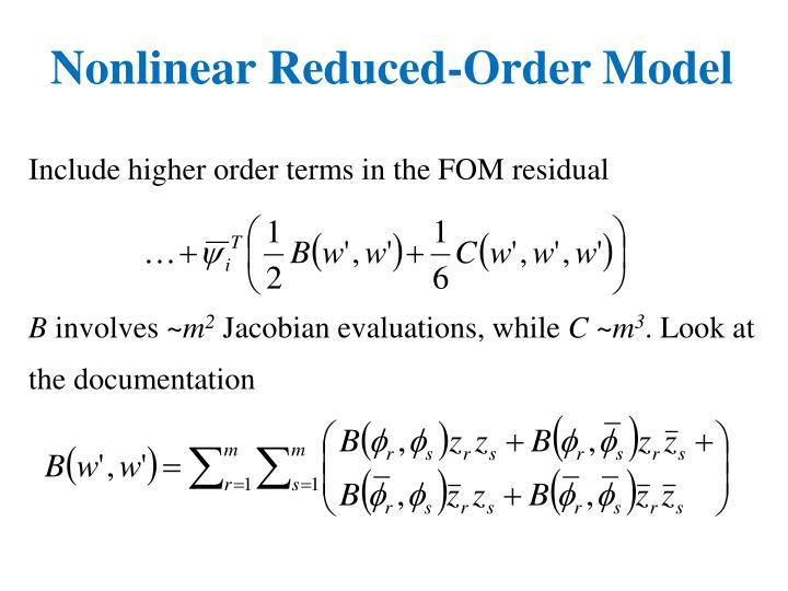Nonlinear Reduced-Order Model