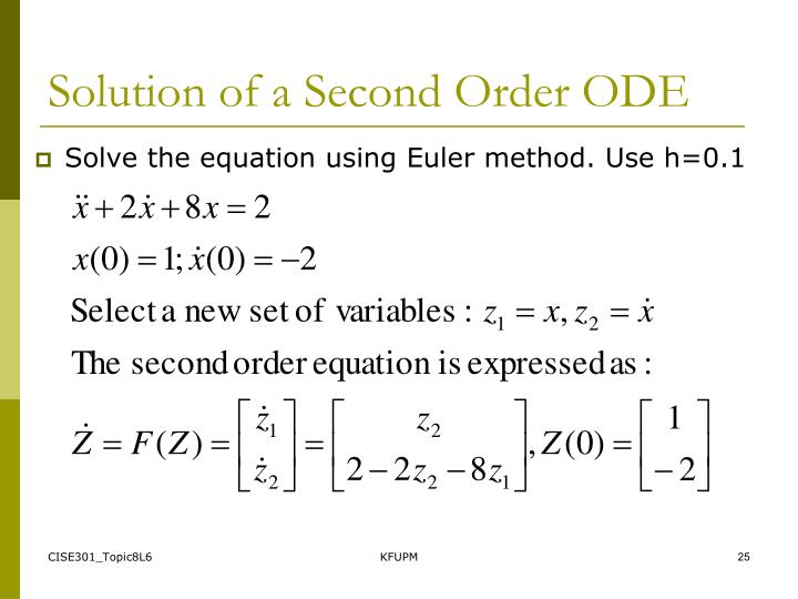 Solution of a Second Order ODE