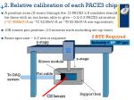 2 relative calibration of each pace3 chip