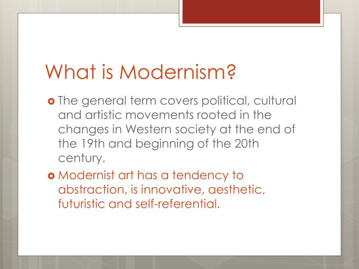 What is modernism1