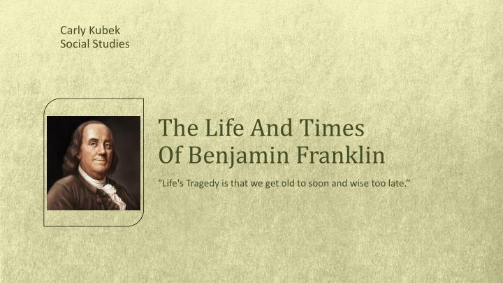 life and works of benjamin franklin