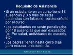 requisito de asistencia