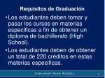 requisitos de graduaci n