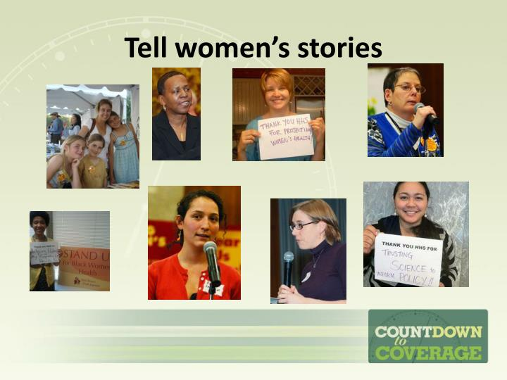 Tell women's stories