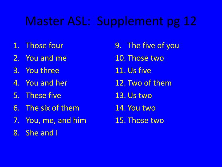 Master ASL:  Supplement pg 12