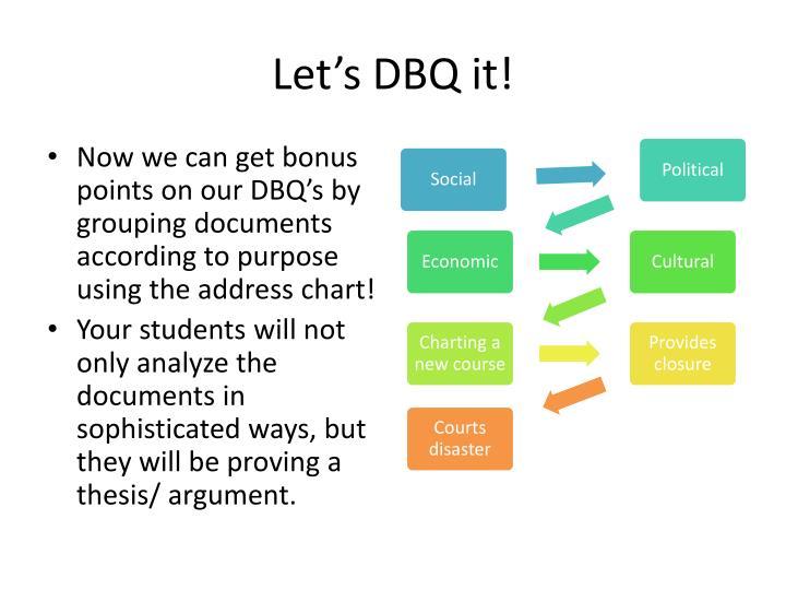 Let's DBQ it!