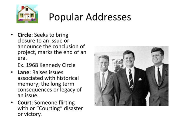 Popular Addresses