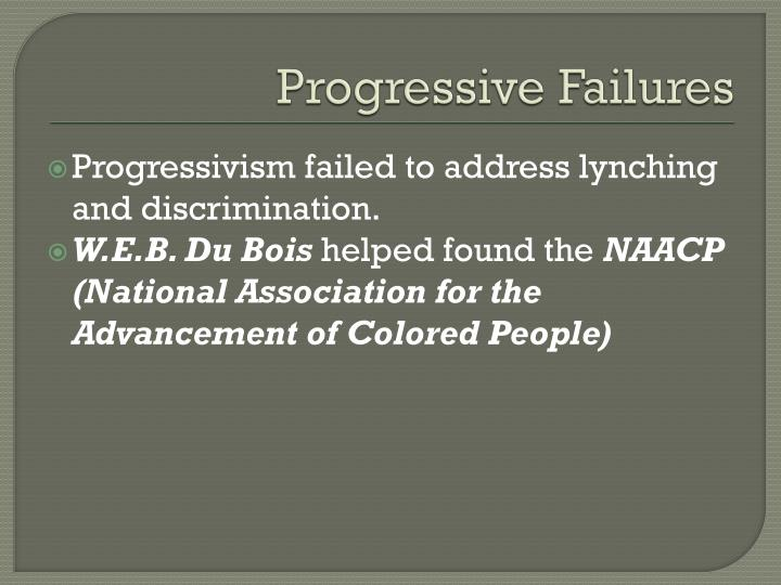Progressive Failures