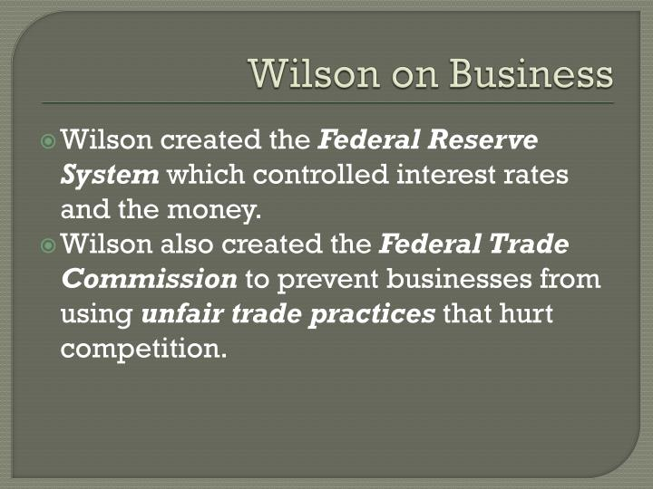 Wilson on Business
