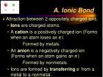 a ionic bond