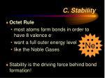 c stability