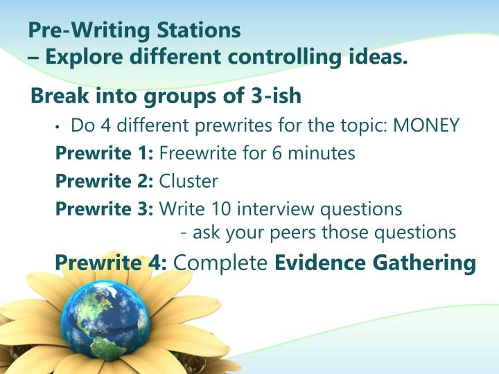 Pre-Writing Stations