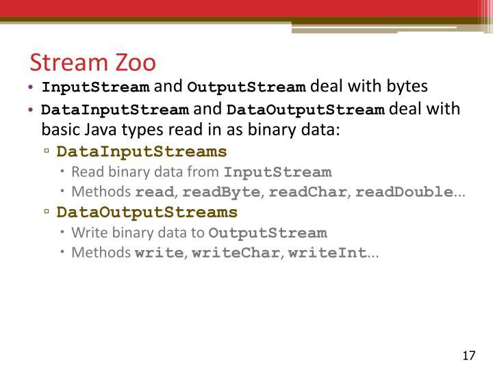 Stream Zoo