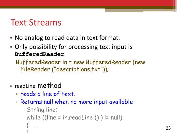 Text Streams