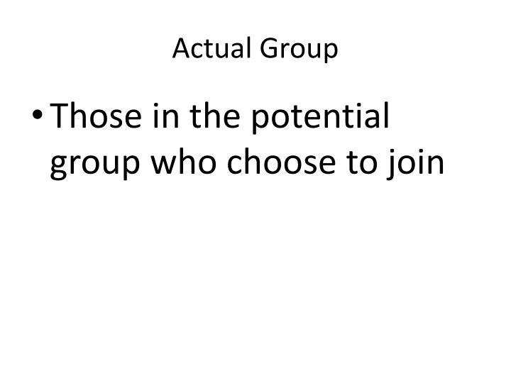 Actual Group