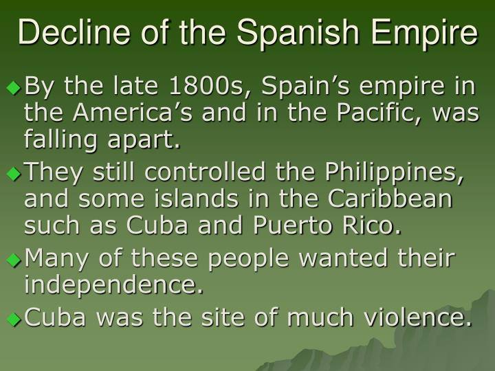 Decline of the spanish empire
