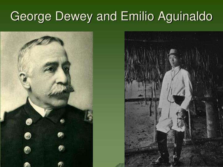 George Dewey and Emilio Aguinaldo