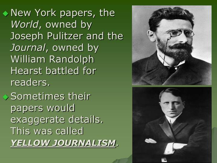 New York papers, the