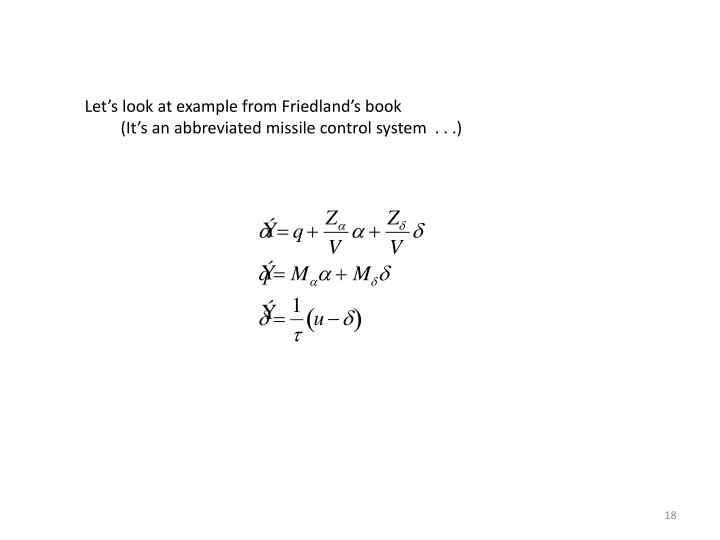 Let's look at example from