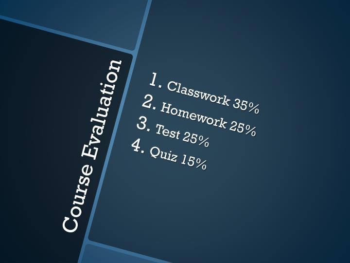 Classwork 35%