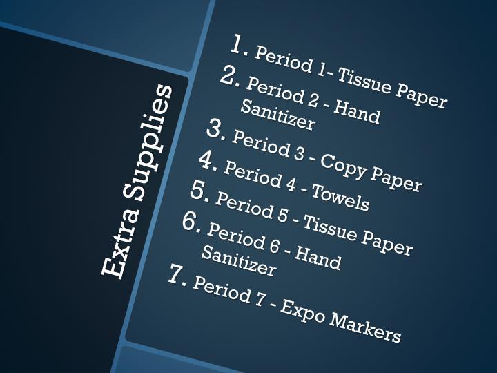Period 1- Tissue Paper