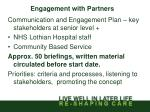 engagement with partners