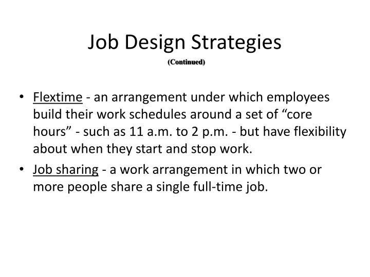 Job Design Strategies