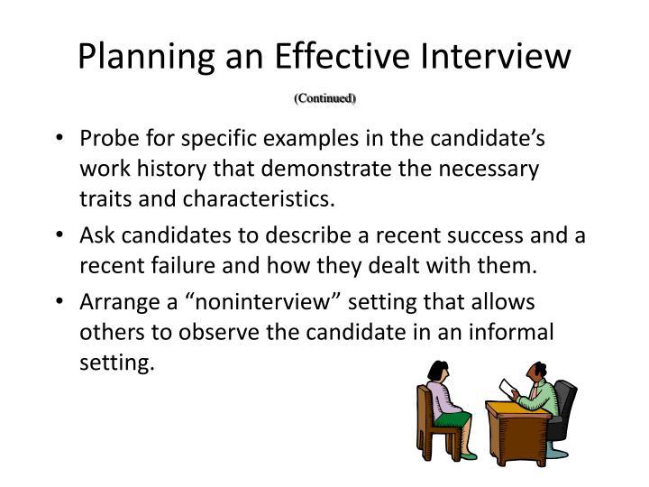 Planning an Effective Interview