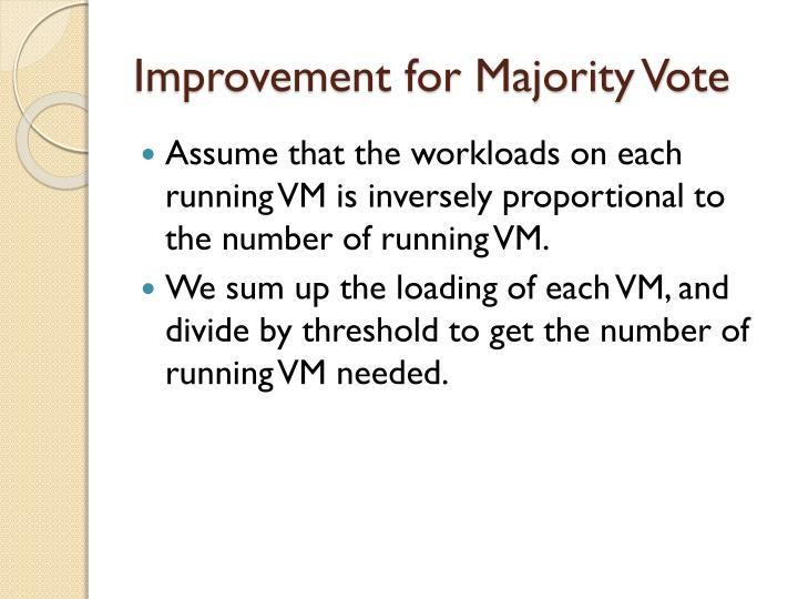 Improvement for majority vote