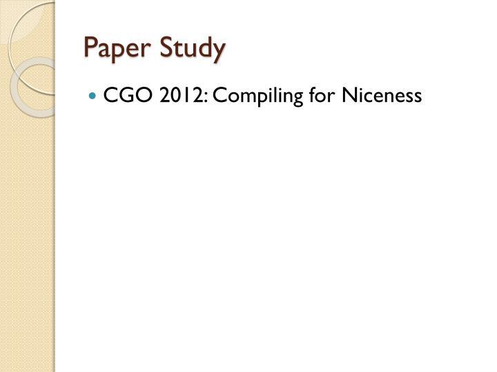 Paper Study