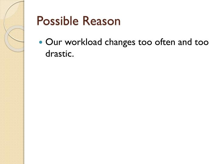 Possible Reason