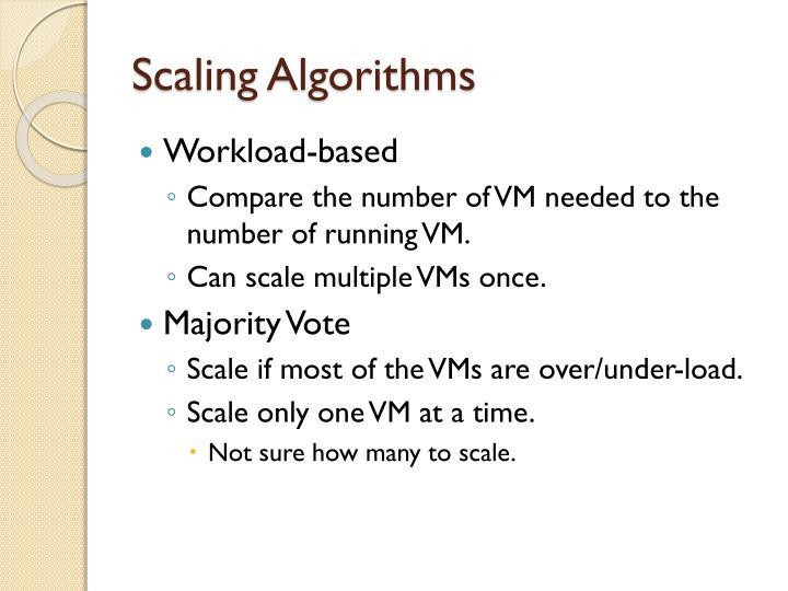 Scaling algorithms