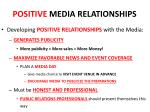 positive media relationships