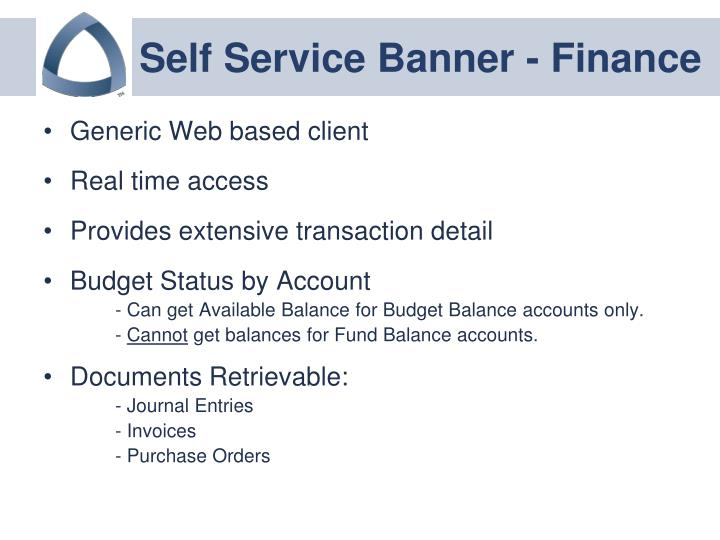 Self service banner finance