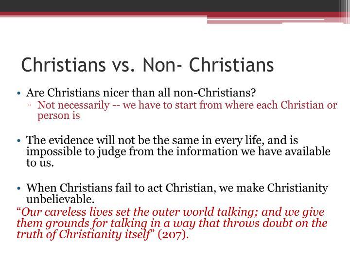 Christians vs non christians