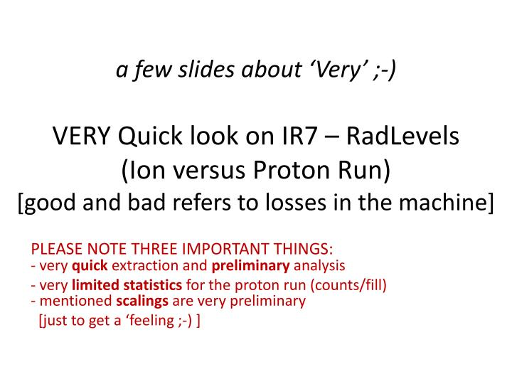 A few slides about 'Very' ;-)